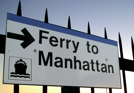 image of ferry sign