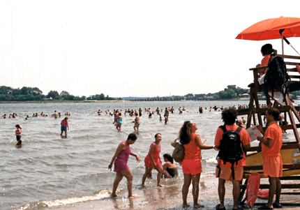 Lifeguards at Orchard Beach on City Island