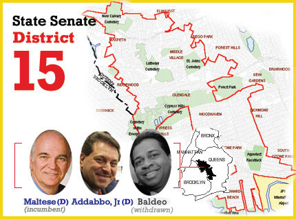 ny state senate district 15, joseph addabbo versus serphin maltese