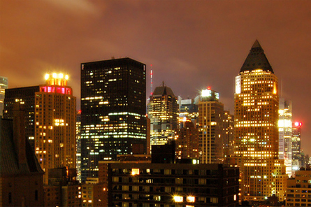 new york city skyline night. Cleaning Up New Yorkís