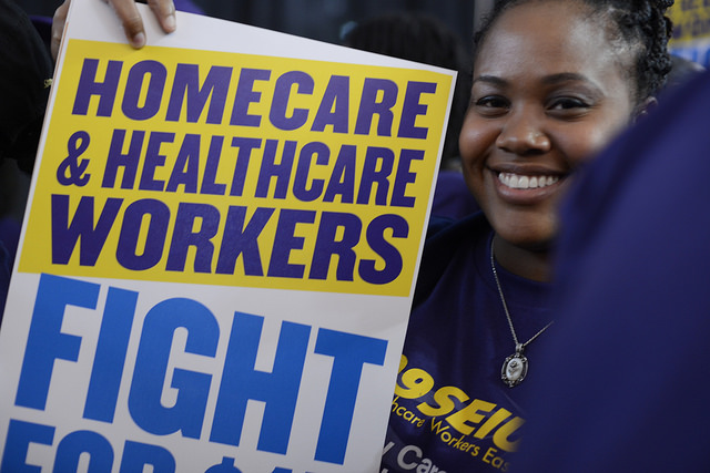 healthcare workers sign