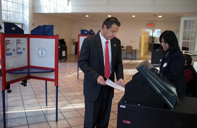 Cuomo voting Nov 2015