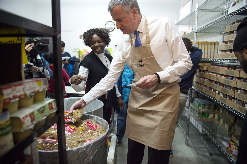 de Blasio food plan