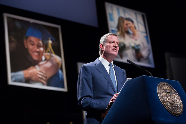 de blasio speech