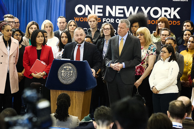 Corey Johnson and Bill de Blasio