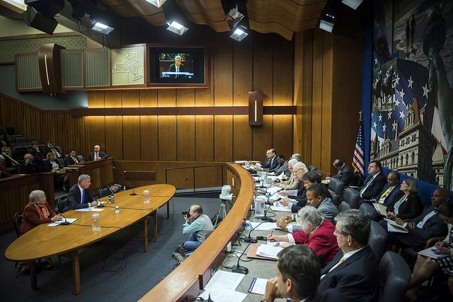 de blasio albany testimony state senate