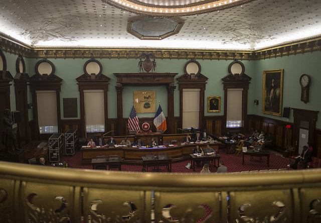 city council chambers balcony