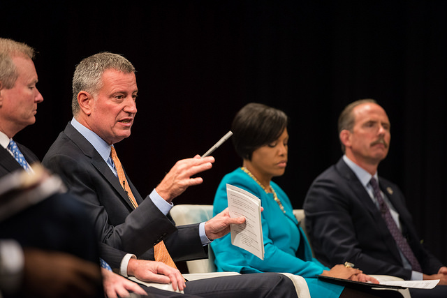 de blasio panel mayors