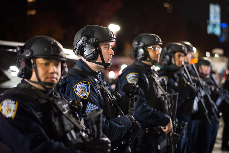 NYPD officers armor guns