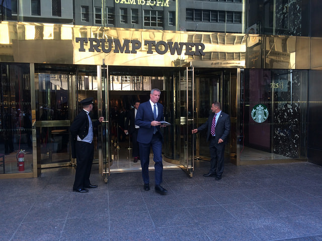 de blasio trump tower
