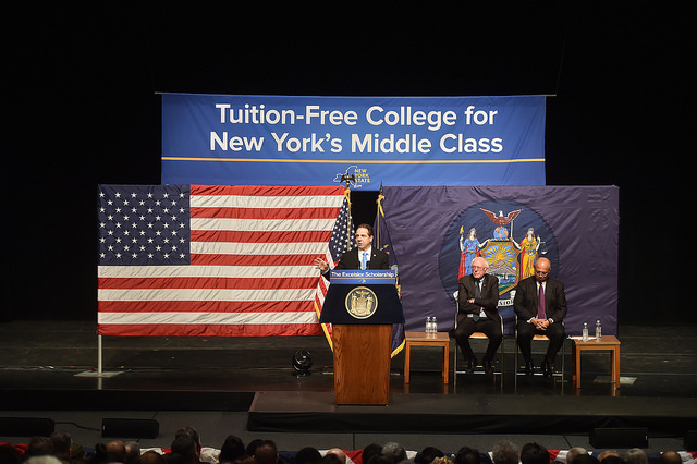 Cuomo tuition-free college announcement