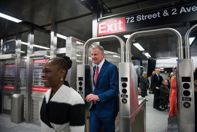 de blasio subway mccray