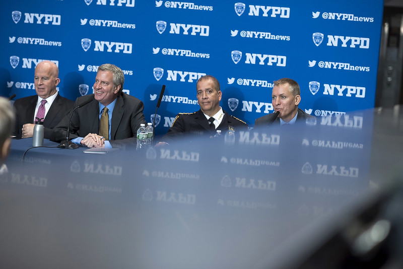 de Blasio NYPD leaders