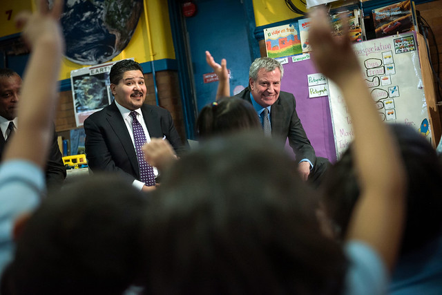 Carranza De Blasio education