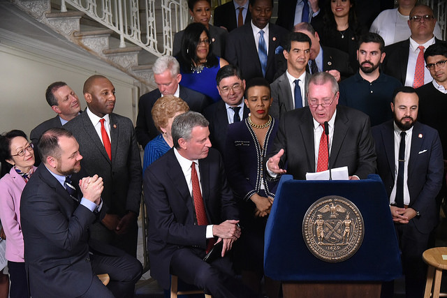 De Blasio City Council members