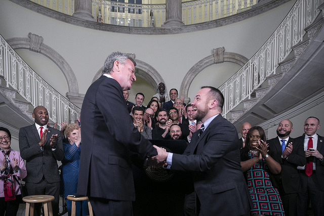 de Blasio Corey Johnson budget City Hall