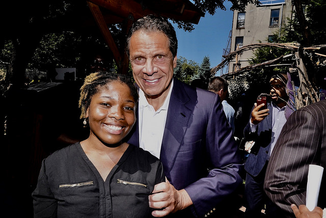 Cuomo with young woman