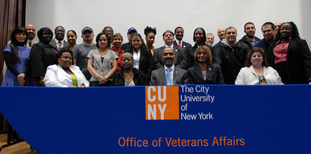 CUNY military veterans banner 2009