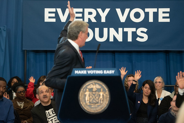 de Blasio early voting new york city