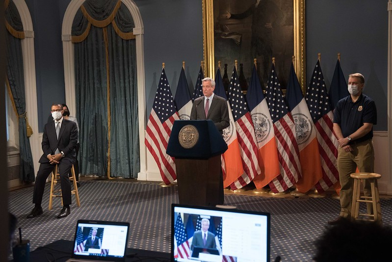 de Blasio city hall reopening govt