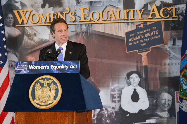 Cuomo Women's Equality Act presser 2013