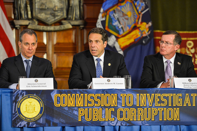 schneiderman cuomo moreland corruption