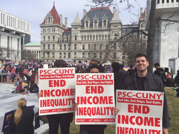 PSC CUNY Albany protest