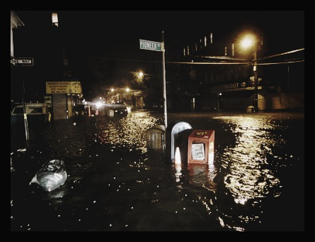Red Hook flooded by Sandy
