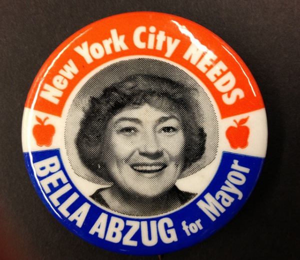 Bella Abzug For Mayor button