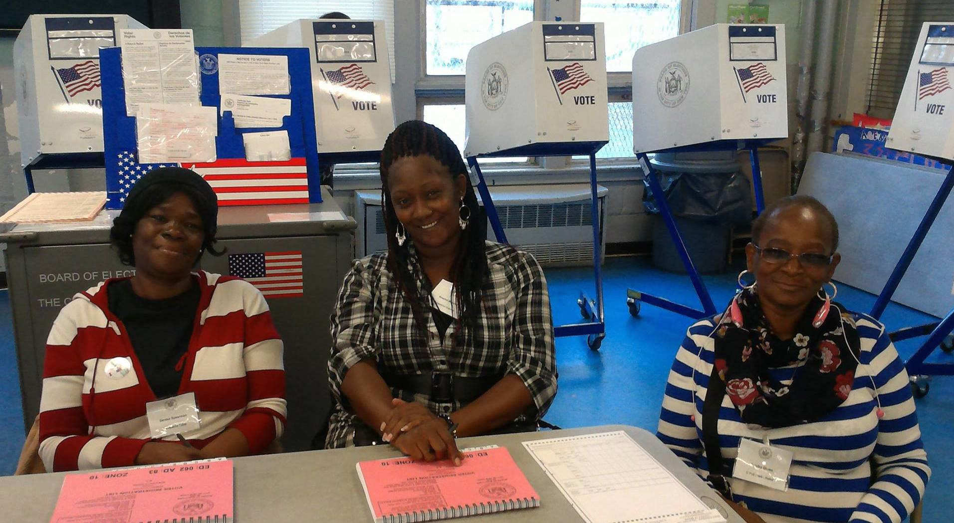 boe poll workers and voting booths 1