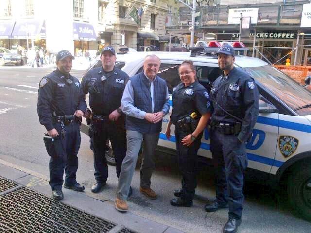 bratton officers car street