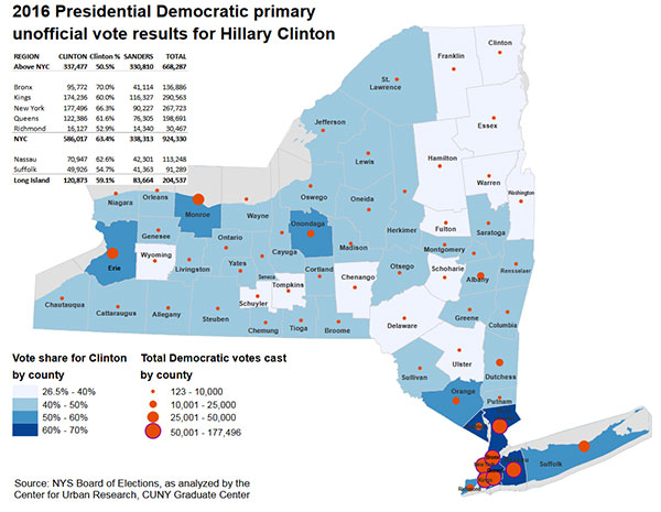 In New York City Clinton Also Won Large Swaths Of The Northwest Bronx Southeast Queens And East Brooklyn With Over 70 Of The Vote Share