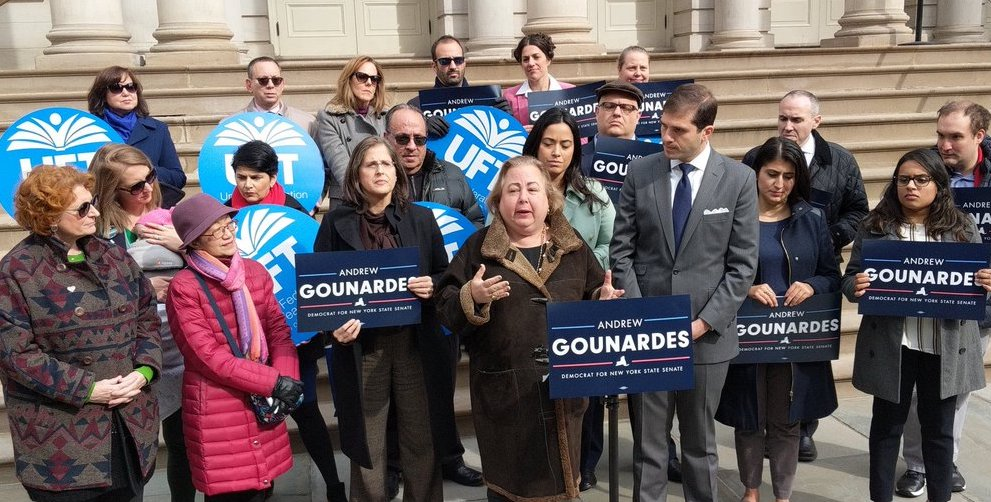 gounardes state senate rally