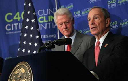 Clinton and Bloomberg