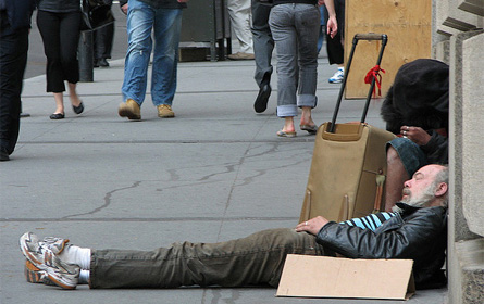homeless man in New York City