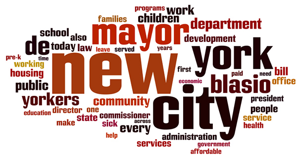 100 days de blasio word cloud