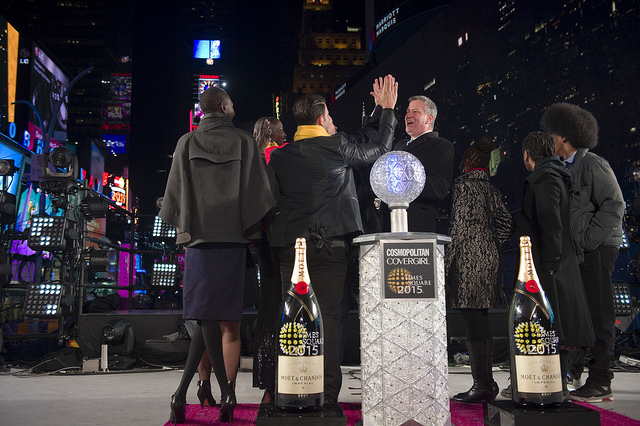 de Blasio new year's family festivities