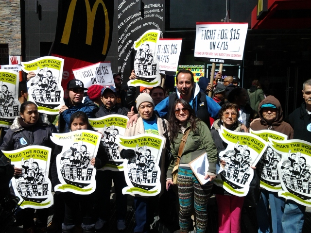 fight for 15 minimum wage make the road