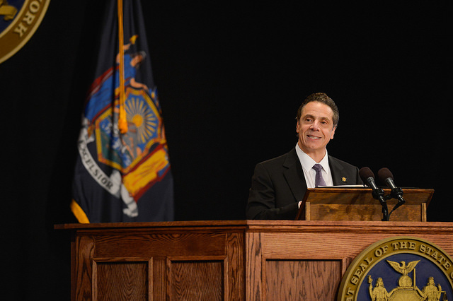 cuomo state of the state ethics podium