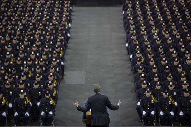 de blasio NYPD graduation 2016