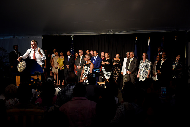 de blasio gracie mansion celebration