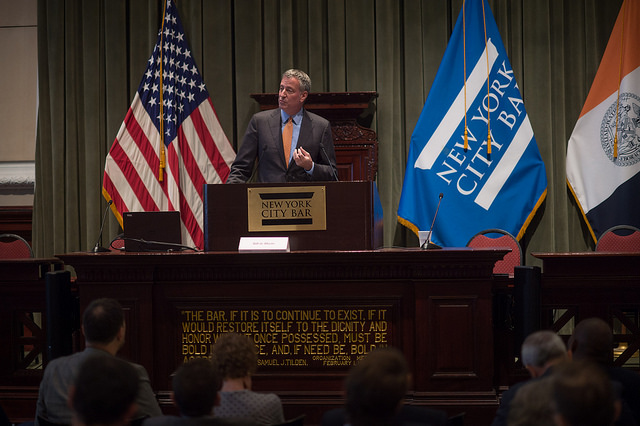 de blasio zoning speech