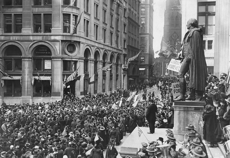 Armistice Day Wall Street