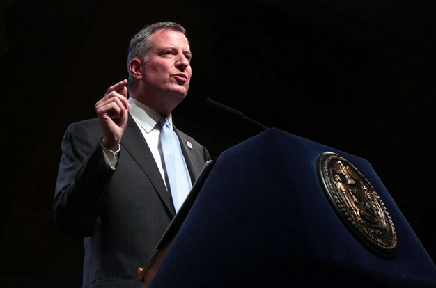 Bill de Blasio 100 days speech