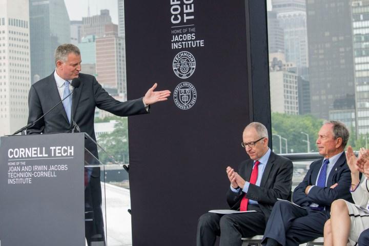 Bloomberg de Blasio Cornell Tech