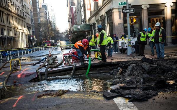 NY water main break