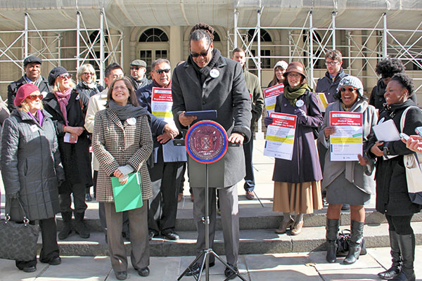 Council members and advocates rally for SVRD at City Hall (all photos: Cici Chen)