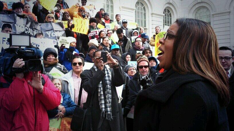 Tish James rally pic