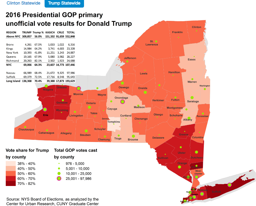 Trump statewide via CUNY graduate center