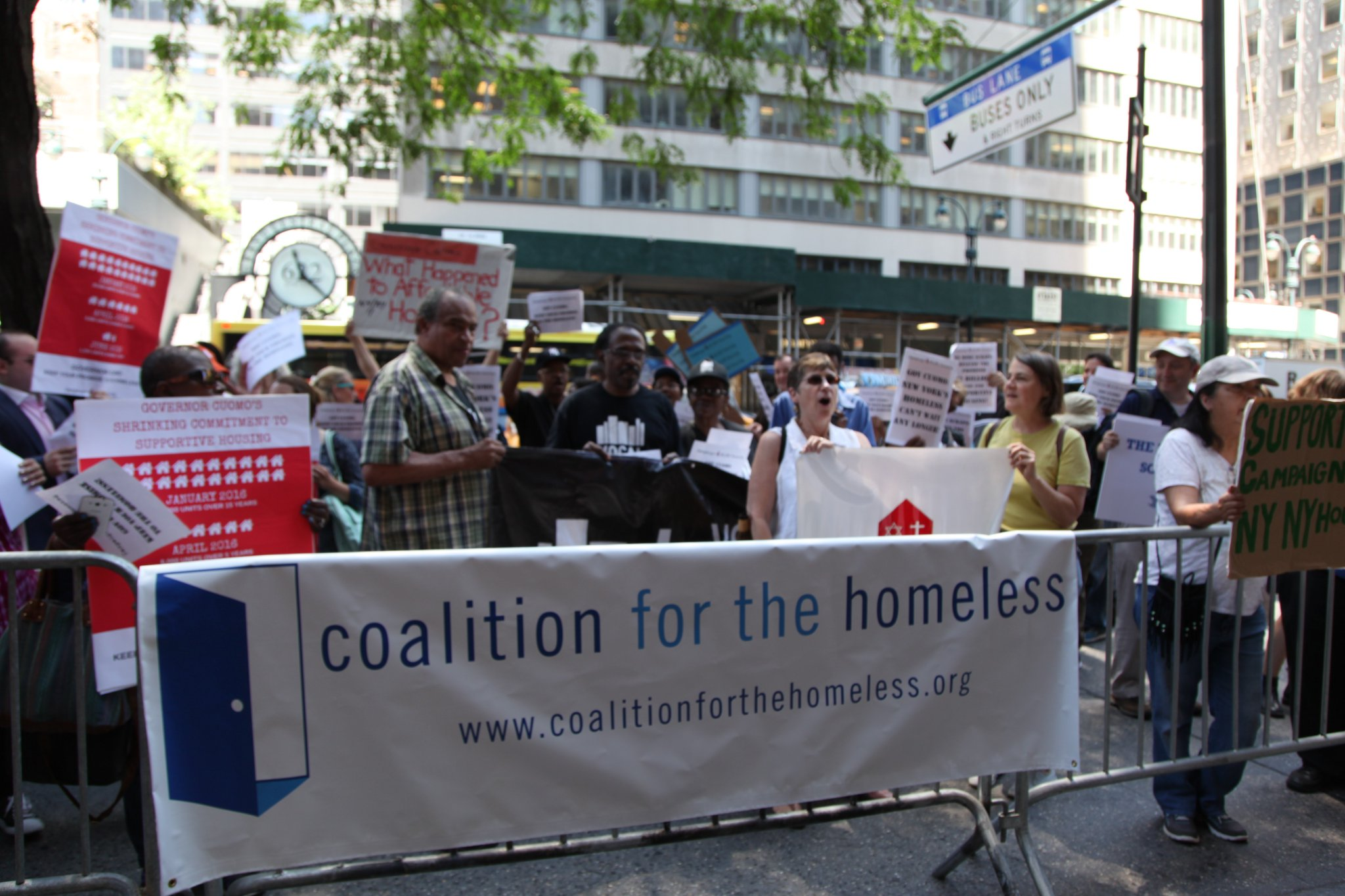 coalition for the homeless protest
